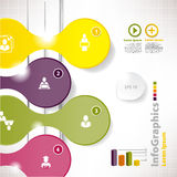Calibre infographic moderne pour le design d'entreprise avec le clivage Photo stock