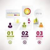 Calibre infographic moderne pour le design d'entreprise MI Photo libre de droits