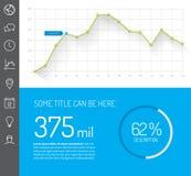 Calibre infographic simple de tableau de bord illustration de vecteur