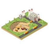 Calibre isométrique d'industrie minière illustration de vecteur