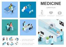 Calibre isométrique d'Infographic de soins médicaux illustration de vecteur
