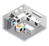 Calibre isométrique de cuisine familiale illustration libre de droits