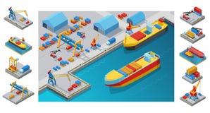 Calibre isométrique de port maritime