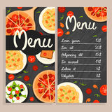 Calibre italien coloré de menu de restaurant Photos stock