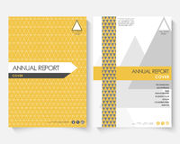 Calibre jaune de conception de couverture pour le rapport annuel  Livret moderne de concept d'affaires avec l'infographics Insect Photo stock