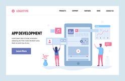 Calibre linéaire de conception d'art de site Web de vecteur Développement du téléphone portable APP Concepts d'applications de sm illustration libre de droits