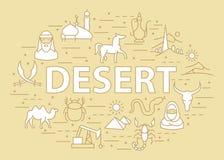 Calibre linéaire de désert Photos libres de droits