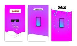 Calibre liquide moderne vertical de bannière pour la promotion des ventes illustration stock