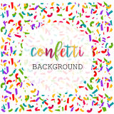 Calibre lumineux coloré de bannière de confettis abrégez le fond Illustration de vecteur Image libre de droits