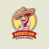 Calibre mexicain de logo de type de bande dessinée Illustration Libre de Droits