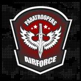 Calibre militaire de conception de vecteur d'emblème d'unité spéciale image stock