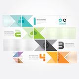 Calibre minimal de graphique d'infos de style de conception moderne. illustration stock