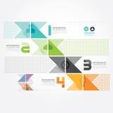 Calibre minimal de graphique d'infos de style de conception moderne. Images libres de droits