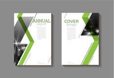 Calibre moderne abstrait vert de brochure de livre de couverture, conception illustration stock