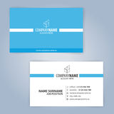 Calibre moderne bleu et blanc de carte de visite professionnelle de visite Images stock