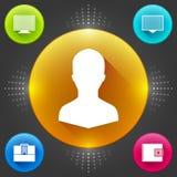 Calibre moderne d'icônes d'affaires de vecteur. Ensemble propre et élégant d'interface. Conception d'illustration de concept du ve Illustration de Vecteur