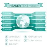 Calibre moderne d'Infographic avec le globe et le texte Peut être employé comme calibre créatif d'affaires, pour la disposition d Photographie stock libre de droits