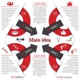 Calibre moderne d'Infographics avec la flèche. Design d'entreprise. Photo libre de droits