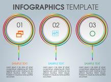 Calibre moderne d'options d'infographics avec le cercle coloré Photos stock
