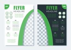 Calibre moderne de brochure d'affaires Disposition propre minimaliste d'insecte Photographie stock