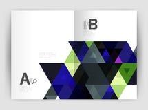 Calibre moderne de brochure d'affaires ou de couverture du tract A4 illustration stock