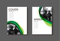 Calibre moderne de brochure de livre de couverture de couverture abstraite verte, desig illustration de vecteur