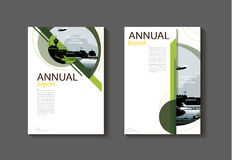 Calibre moderne de brochure de livre de couverture de couverture abstraite verte naturelle illustration de vecteur