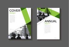 Calibre moderne de brochure de livre de couverture d'abrégé sur vert couverture, desig illustration libre de droits