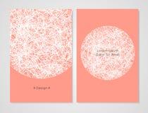 Calibre moderne de carte Il peut être employé comme invitation, couverture, carte de voeux ou bannière Couleur saumonée Illustration Stock
