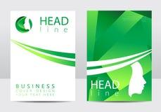 Calibre moderne de conception de couverture Visage humain de profil Type créateur Logotype dans le vecteur Concept de constructio illustration de vecteur