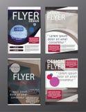 Calibre moderne de conception de disposition de brochure de polygone Cov de tract d'insecte Photos libres de droits
