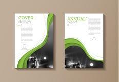 Calibre moderne de couverture verte d'eco, conception, rapport annuel, magazin illustration stock