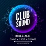 Calibre moderne de partie de musique de club, insecte de soirée dansante, brochure Affiche de bannière de club de partie de nuit Photographie stock
