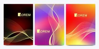 Calibre moderne de vecteur pour la brochure, tract, insecte, couverture, catalogue dans la taille A4 Le fluide abstrait 3d forme  illustration libre de droits