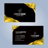 Calibre moderne jaune et noir de carte de visite professionnelle de visite Images libres de droits
