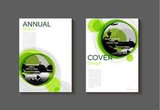 Calibre moderne vert de brochure de livre de couverture, conception, repo annuel illustration stock