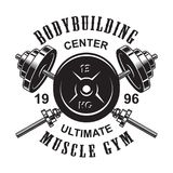 Calibre monochrome de logo de forme physique de vintage illustration libre de droits