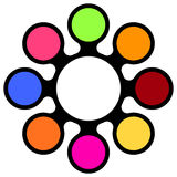 Calibre multicolore de vecteur Illustration Stock