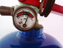 Calibre no extintor de incêndio Foto de Stock Royalty Free