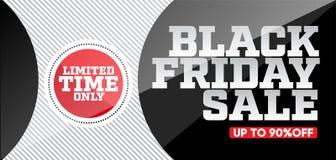 Calibre noir de conception de vente de vendredi Bannière noire de vendredi illustration de vecteur