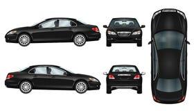 Calibre noir de vecteur de voiture Photo stock