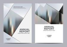 Calibre noir et blanc de conception de disposition de brochure annuel Images stock