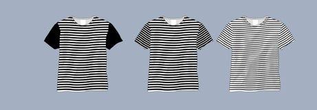 Calibre noir et blanc de T-shirt illustration stock