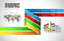 Calibre original d'Infographic de style Photos stock