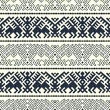 Calibre ornementé géométrique ethnique de frontière de vecteur conception pour le bois de graveur, emballage, copie illustration stock