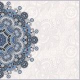 Calibre ornemental avec le fond floral de cercle Photographie stock