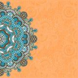 Calibre ornemental avec le fond floral de cercle Photos libres de droits