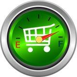 Calibre para a compra e a medida de dinheiro ilustração do vetor