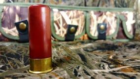 calibre 12 para uma arma com uma caixa de cartucho foto de stock