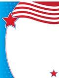Calibre patriotique de frontière de fond Images libres de droits